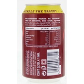 Dr Pepper Cola Blik 33 Cl achterkant