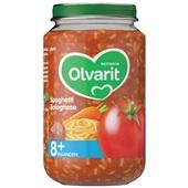 Olvarit baby/peuter maaltijd spaghetti bolognese voorkant