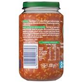 Olvarit baby/peuter maaltijd spaghetti bolognese achterkant