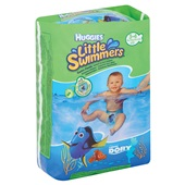 Huggies zwemluiers maat 3-4 achterkant
