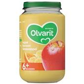 Olvarit baby/peuter fruithapje appel, banaan en sinaasappel voorkant