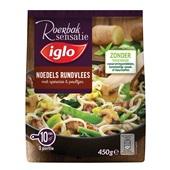Iglo roerbaksensatie noodles met rundvlees voorkant