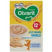 Olvarit baby/peuter ontbijtpap granen vanille voorkant