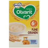 Olvarit baby/peuter ontbijtpap fijne granen voorkant