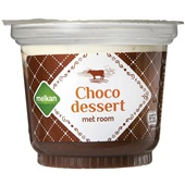Melkan choco dessert  voorkant