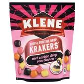 Klene Krakers Drop en fruitige drop voorkant