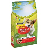 Bonzo mini hondenbrokken menu met rund voorkant