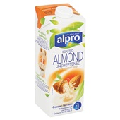 Alpro Drink Amandel Ongezoet achterkant