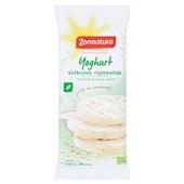 Zonnatura rijstwafels yoghurt voorkant