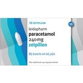 Leidapharm paracetamol 240mg zetpillen voorkant