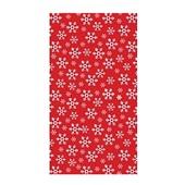 Duni tafellaken red snowflake 138 x 220 cm  voorkant