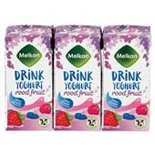 Melkan drink yoghurt rood fruit voorkant