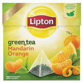 Lipton theezakjes groene thee madrin orange voorkant