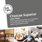 GiftFor2 choices superior voor twee voorkant