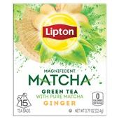 Lipton green tea  matcha ginger voorkant