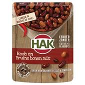 Hak rode en bruine bonen mix voorkant
