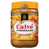 Calvé pindakaas met stukjes noot voorkant