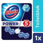 Glorix power 5 toiletblok ocean achterkant