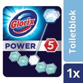 Glorix power 5 toiletblok met bleek achterkant