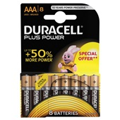 Duracell plus power AAA voorkant
