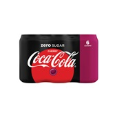 Coca Cola zero cherry 6x33cl voorkant