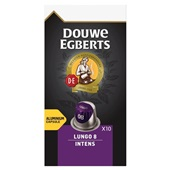 Douwe Egberts Aroma Rood Koffiecapsules Lungo Intense voorkant
