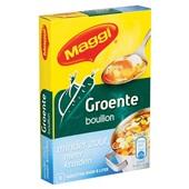 Maggi Bouillon Blok Groente Minder Zout achterkant