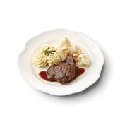 Culivers (91) sucadelapje met jus, bloemkool à la crème en aardappelpuree met bieslook zoutarm voorkant