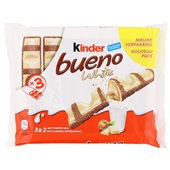 Kinder Bueno Chocolade White 3-Pack voorkant
