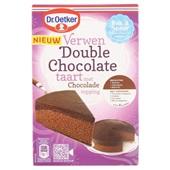 Dr. Oetker Bakmix Double Chocoladetaart voorkant