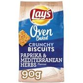 Lay's Oven Chips Crunchy biscuits paprika & mediterranen herbs voorkant