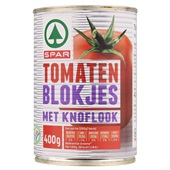 Spar Tomatenblokjes Knoflook voorkant