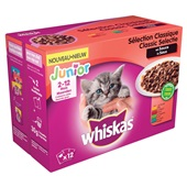 Whiskas kattenvoer junior classic in saus achterkant