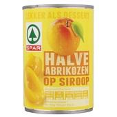 Spar Halve Abrikozen In Siroop voorkant