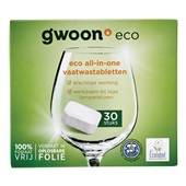 Gwoon eco vaatwastabletten all in one voorkant