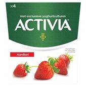 Activia yoghurt  aardbei voorkant