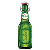 Grolsch bier premium pilsener beugelfles achterkant