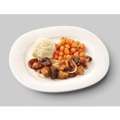 Culivers (30) kip op Brabantse wijze met Parijse worteltjes en aardappelpuree voorkant