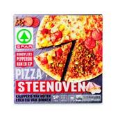 Spar Pizza Steenoven Rundvlees Ham Kip voorkant