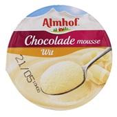 Almhof Chocolademousse Wit achterkant