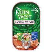 John West kabeljauwlever in olijfolie voorkant