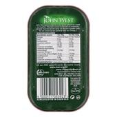 John West kabeljauwlever in olijfolie achterkant