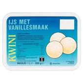 Kwini vanille ijs voorkant