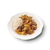 Culivers (10) daging rendang met sajourboontjes en witte rijst voorkant