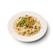 Culivers (39) spaghetti carbonara met Italiaanse tuinerwtjes voorkant