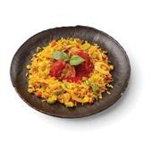 Culivers (2) balletjes in tomatensaus met rijst-groenteschotel voorkant