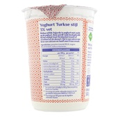 Melkan Turkse Yoghurt Naturel 3% achterkant