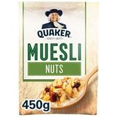 Quaker Havermout Muesli noten voorkant