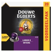 Douwe Egberts Aroma Rood Koffiecapsules Lungo Intens voorkant