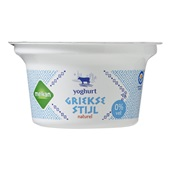 Melkan Griekse Yoghurt Naturel 0% voorkant
